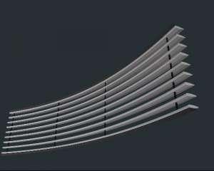 朗烁专利集成带产品 卡扣格栅式集成带 专业订做