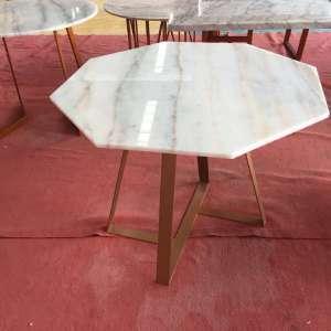 定制广西白大理石餐桌 大理石桌面