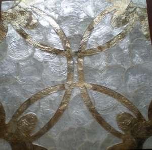贝壳雕花墙纸,贝壳墙纸