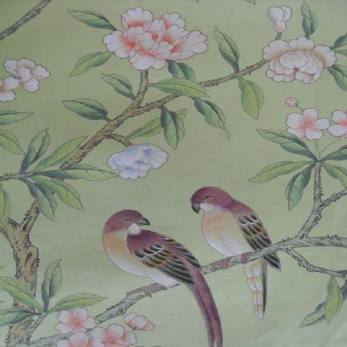 手绘丝绸墙纸