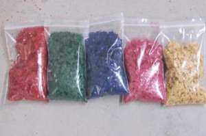 供应天然彩色岩片